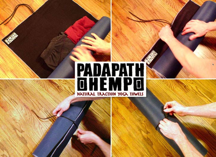 How to roll your yoga gear into a PadaPath Hemp Yoga Towel